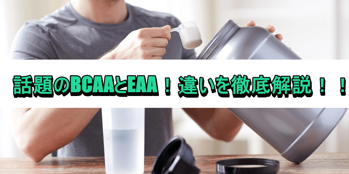 話題のBCAAとEAA!違いを徹底解説!!