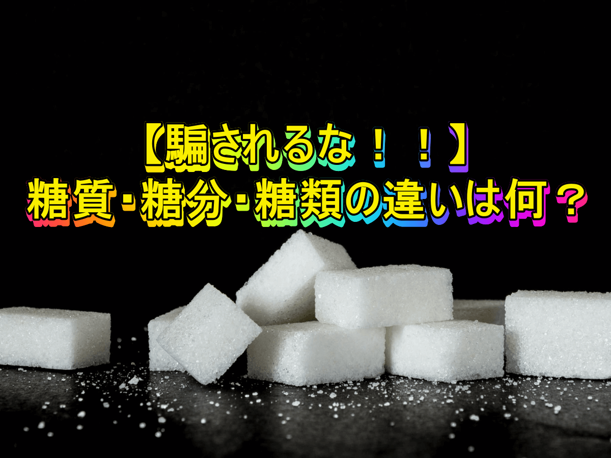 【騙されるな!!】糖質・糖分・糖類の違いは何?
